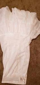 Wedding dress under skirt